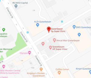 queanbeyan clinic location map